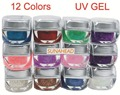 BEMLP Mix 12 Colors Nail Art Glitter UV Builder Gel Acrylic Set
