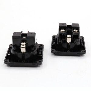 Image 2 - 2PCS Korean Standard AC Power Connector EU Power Socket Jack Power Cord Inlet AC 250V 16A HIFI SCHUKO Socket