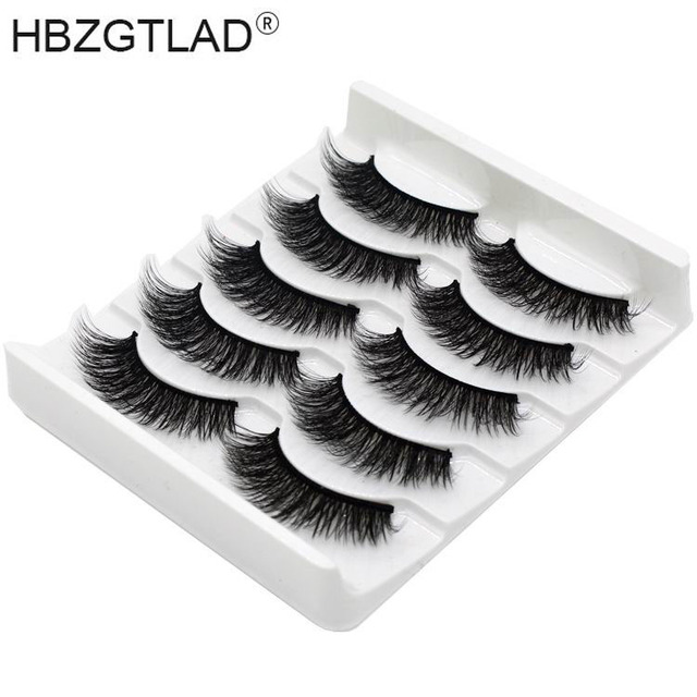 NEW 13 Styles 5 pair Mink Hair False Eyelashes Natural/Thick Long Eye Lashes Wispy Makeup Beauty Extension Tools Wimpers | american doll