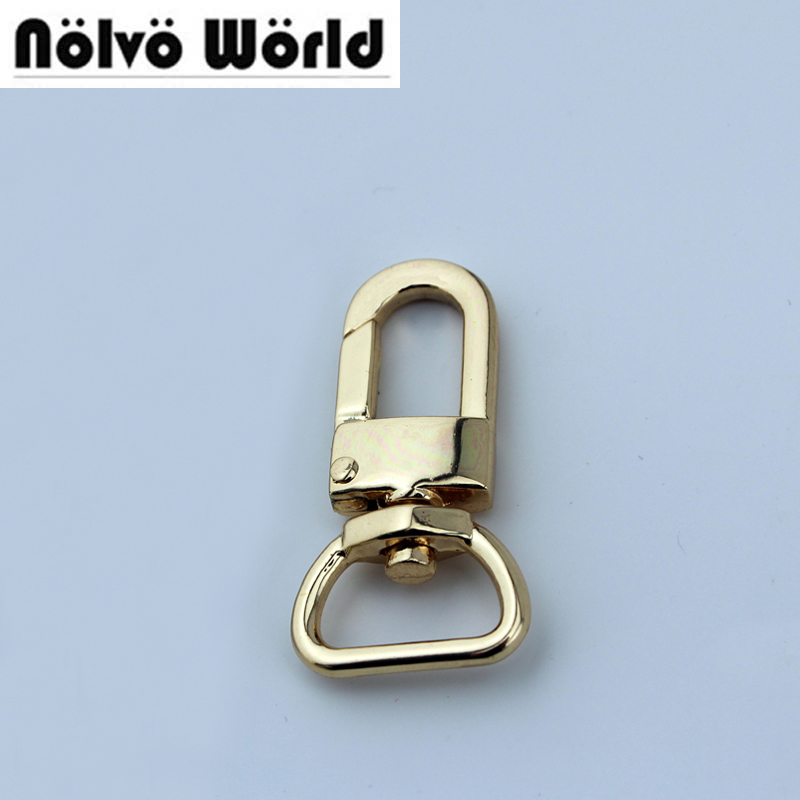 20pcs 4 colors 5/8 1.7cm Swivel Lobster Clasps For Craft Bag Purse,Bag Charm or Luggage Tag Hook,Clip for Bag or Luggage Tag