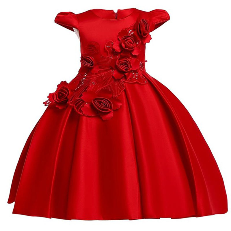 New Pageant Dresses For Girl Ball Gown Kids Clothes First Communion Princess Dress Flower Girl Dresses Baby Tutu Costume L5070