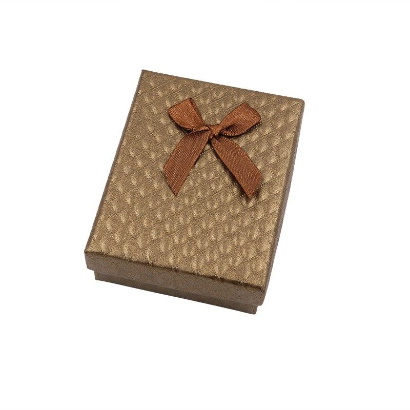 Jewelry Necklace Earrings Ring Box Gift Boite A Bijoux Caixa De Joias Diamond Pattern Paper Boxes For Women Jewellery Cream/Blue
