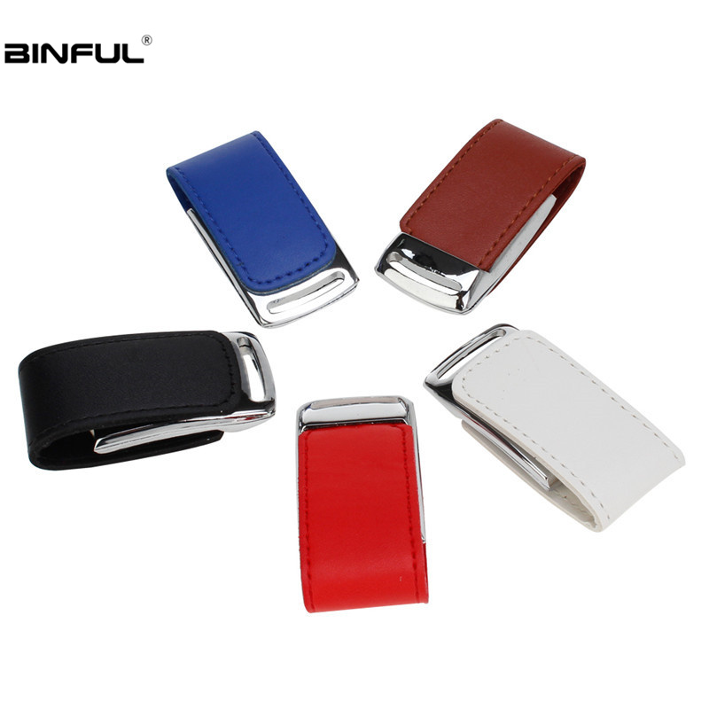 Image 5 - Leather Usb Flash Drive 32gb 16gb Metal Keychain Pen Drive 128gb 64gb 8g 4g Pendrive Portable Flash Memory Stick Free Print LOGO-in USB Flash Drives from Computer & Office