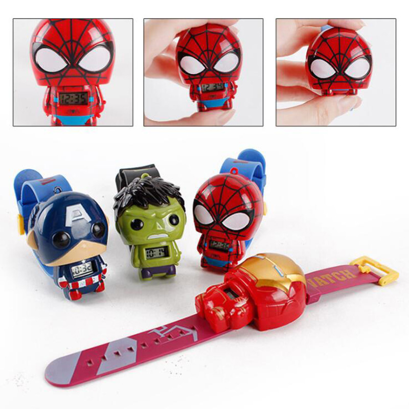 Bracelet Doll Hair-Accessories Electronic-Watch Birthday-Party Spider-Man Children's