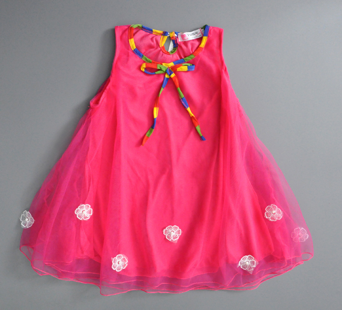 flower girl dress red new 2015 Beautiful baby girl party dress ...