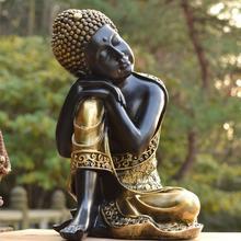 Wholesale Buddhist supplies # home family Bless 2020 Safe good luck Buddha -Southeast Asia Sleeping Buddha art statue