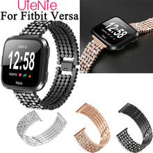 Frontier classic watch strap For Fitbit Versa Band Replacement Metal With rhinestone Wristbands Accessories Steel strip frontier classic watch strap for fitbit versa band replacement metal with rhinestone wristbands accessories steel strip