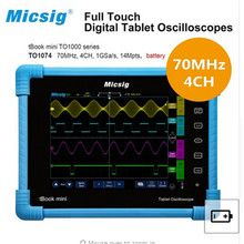Micsig Digital Tablet oscilloscope portable touchscreen scopemeter 70MHz 4CH 14Mpts automotive diagnostic car-detector portable цена