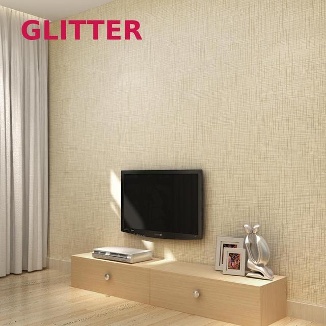 Linen Modern Mica Wallpaper Cozy Living Room Bedroom Soundproof Wallpaper  3d Solid Color Nonwoven Wallpaper Live