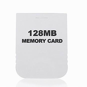 128MB White Memory Card compatible for Wii & Gamecube Console Memory Cards Video Games