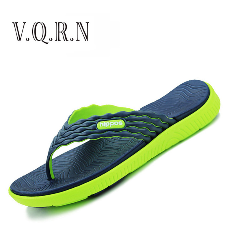 VQRNNew 2017designer  Summer Men's Flip Flops High-quality Soft  Massage Beach Slippers Fashion Men Sandals Casual Shoes  high quality man flip flops slippers beach sandals summer indoor