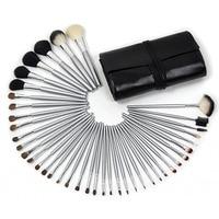 Vander 40 stücke Schwarz Silber Stange Pinsel Set Kits Werkzeuge Make-up Marke Styling Lippen Pulver Schönheit Essentials pinsel Kosmetische
