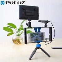 PULUZ Dual Handheld Filmmaking Recording Vlogging Video Rig Case Stabilizer Film Steady Handle Grip Rig For