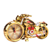 2016 Fashion Gold Silver Alarm Clock Motorcycle Upgrades Student Gifts Crafts Birthday Gifts