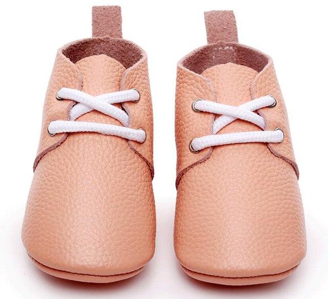 2017 Новый стиль Натуральная Кожа Детские Мокасины Обувь Золото Детская обувь оксфорд зашнуровать Новорожденных первый ходунки Детские детская Обувь