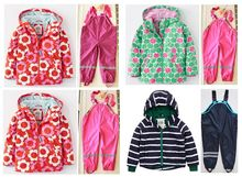 Four seasons of paragraph child windproof rainproof high quality children's clothing child set outdoor waterproof jacket skiing