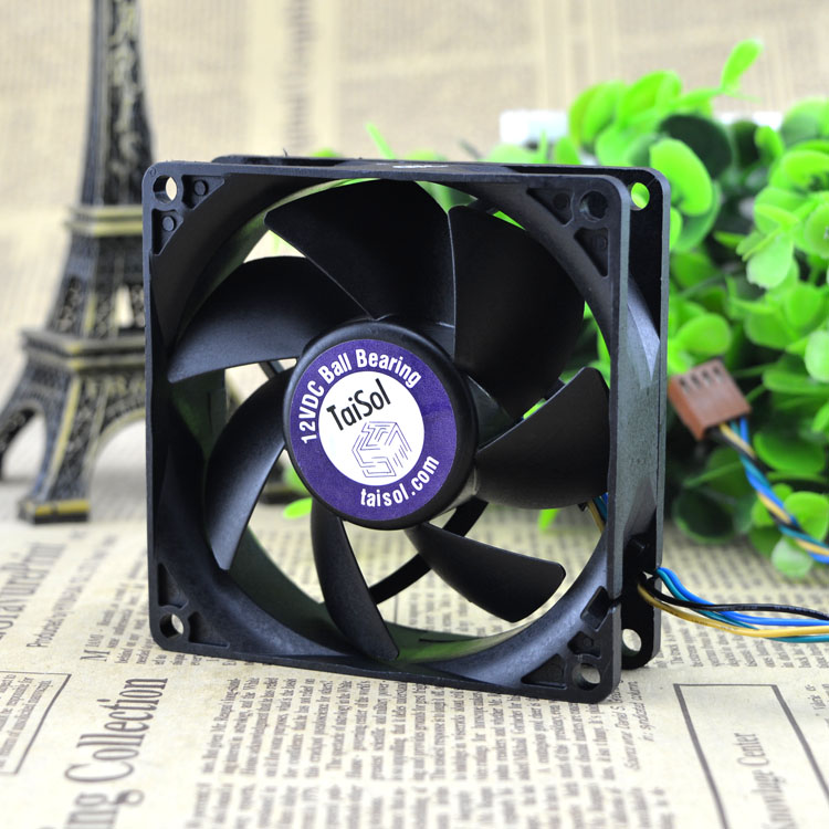 Free Delivery. AFB0812SH 8025 12 v 0.51 A large air volume Double ball bearing fan PWM