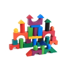 112pcs/set Baby Kids Domino Building Blocks Wooden Montessori Intelligence Toy for Children Educational math toys montessori toy baby educational wooden building blocks toy brown stairs teaching toys page 1