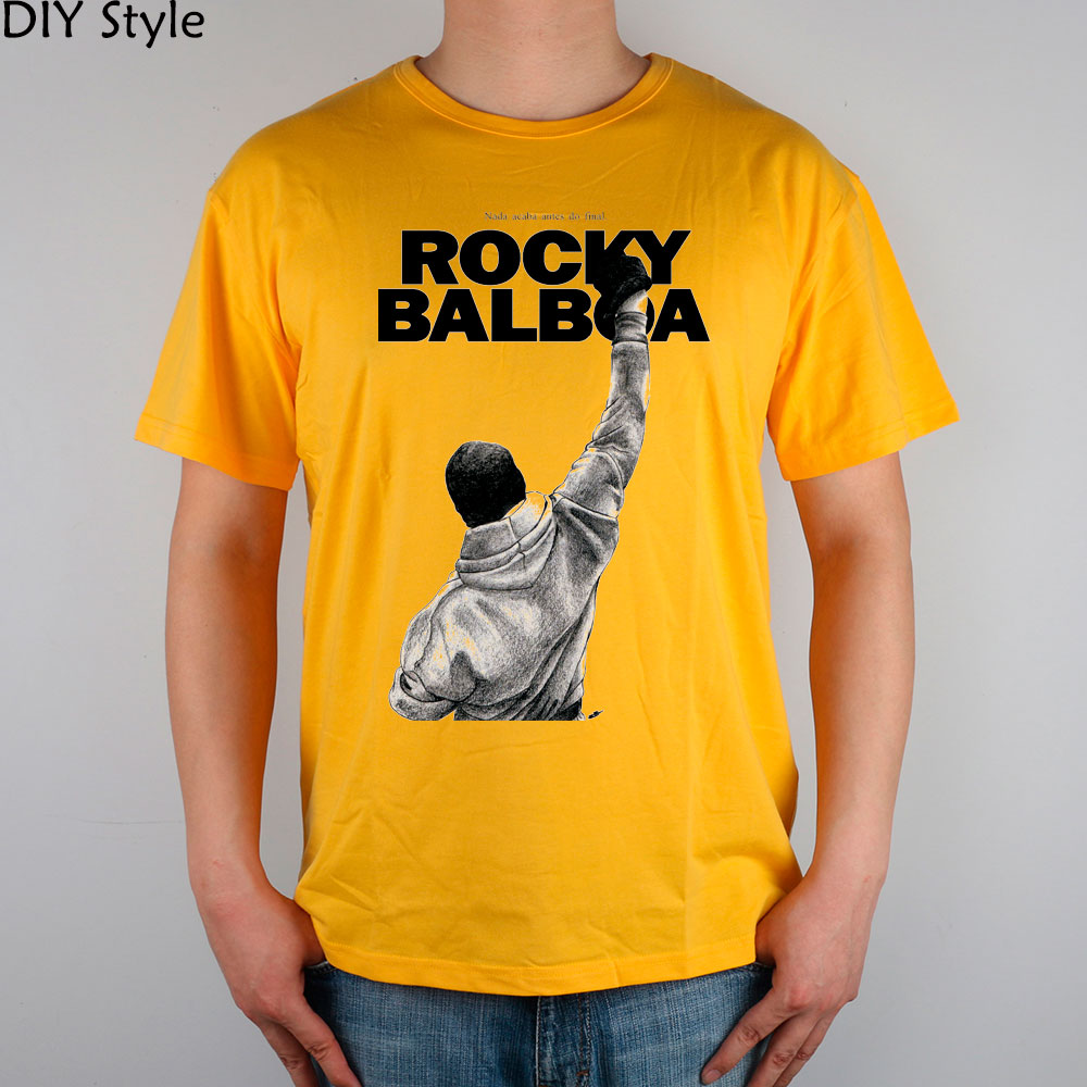 ACTION Sylvester Stallone inspirational ROCKY T-SHIRT cotton Lycra top