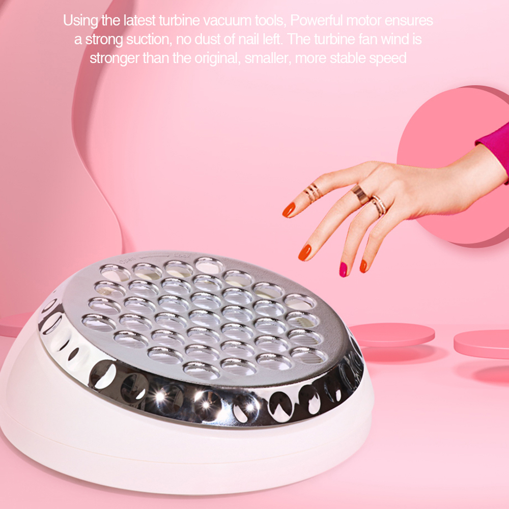 Image 2 - 60W Nail Dust Collector Kit Professional Nail Art Dust Extractor Collecting Fan Manicure Vacuum Cleaner Nail Dirt Filter-in Nail Art Equipment from Beauty & Health