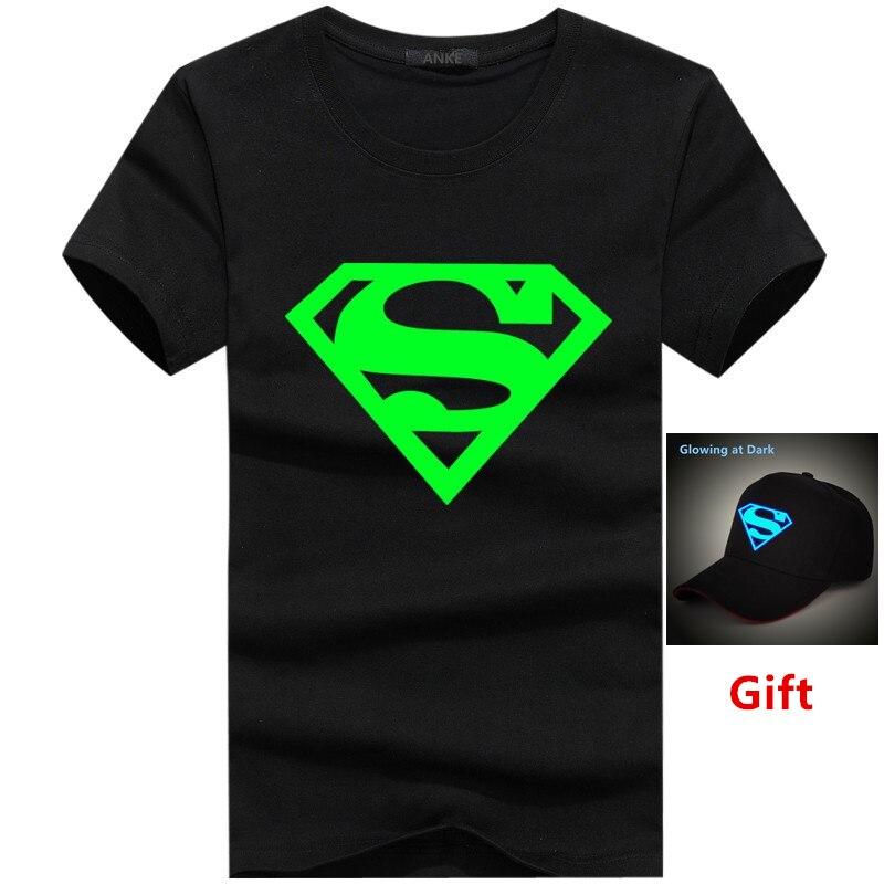 ee33e65f144e7 Comprar Gorra como regalo de tamaño grande auriculares superman música  luminosa camiseta resplandor en la oscuridad fluorescente hombres mujeres  algodón hip ...