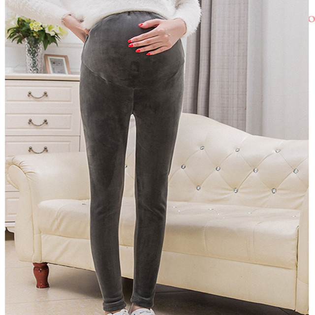 Плюс Размер Мода Для Беременных Одежда Длинные Брюки для Беременных Живота Брюки Для Беременных Брюки Зимние Брюки E636