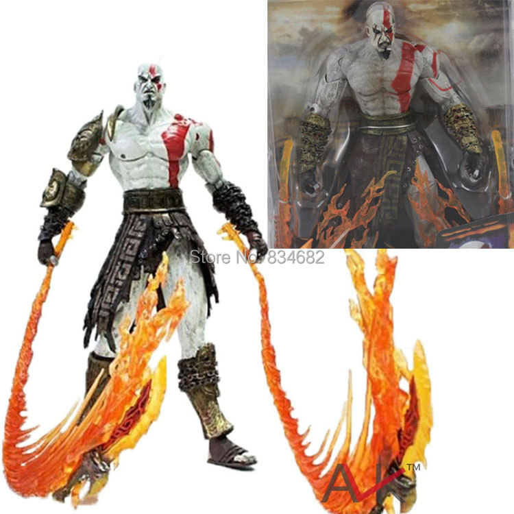 J.G Chen High Quality NECA God of War Kratos in Ares Armor Blades PVC Action Figure Toy 718cm Free Shipping