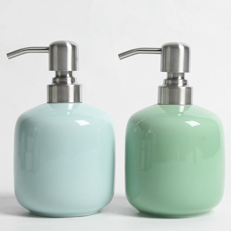 Itas5527 Reseda Keramische Hand Zeepdispenser Luxe Lotion Shampoo Gel Fles Schoonheidssalon Kapper Eetkamer Zorgvuldig Geselecteerde Materialen