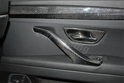 4 Pçs/set Fibra De Carbono Maçaneta Catch Cup Bacia Covers Fit Para BMW série 5 F10 Sedan 2011 2015 Estilo do carro - 5