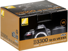 Nikon D3300 DSLR 24.2 MP HD 1080p Digital SLR Camera Body + AF-S 18-55mm VR II Lens – BLACK