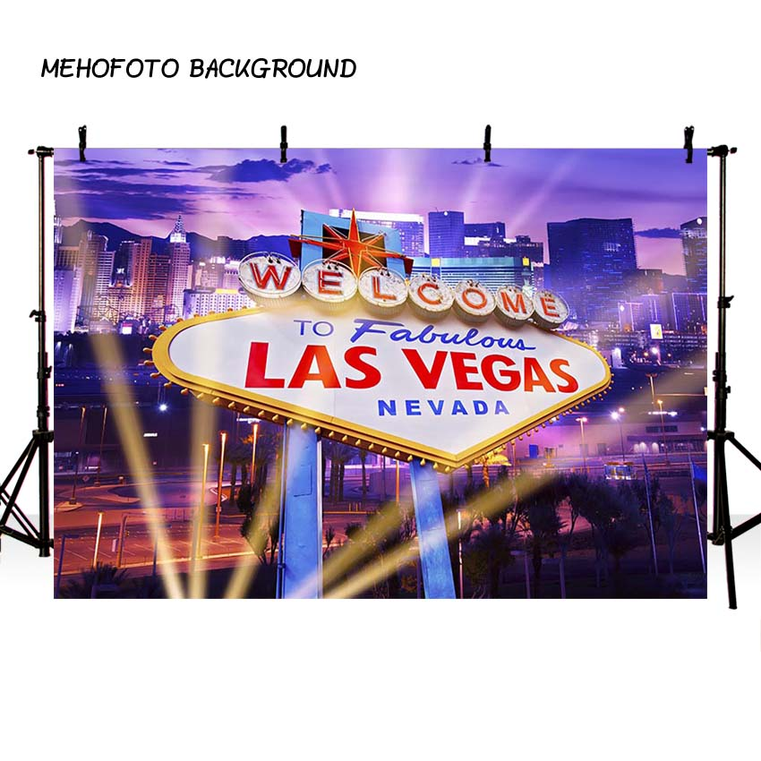 MEHOFOTO Las Vegas City Backdrops for Photography Casino Party Backdrop for Photo Studio Props Background for Pictures -406