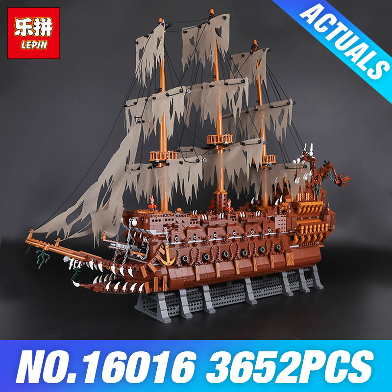 Lepin 16016 3652Pcs MOC Movies Series The Flying Netherlands Dutchman Model Building Blocks Bricks Educational Toys Kids Gifts lepin 16016 3652pcs movie series flying the dutch blocks bricks toys for children compatible legoing pirates caribbean