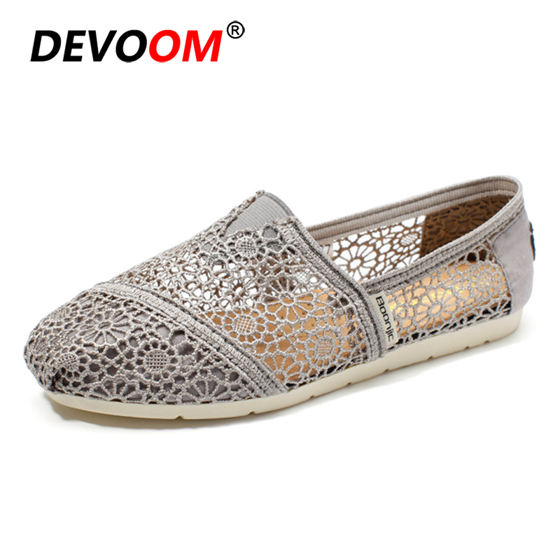 Summer Fashion Lace Shoes Women Living Room Shoes Home Sandals Slip on Hollow out Breathable Casual Flats Ladies Footwear 2018 2018 women summer slip on breathable flat shoes leisure female footwear fashion ladies canvas shoes women casual shoes hld919