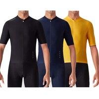 Klasyczne wszystko czarne włochy Miti tkaniny męskie PRO TEAM AERO Race kolarstwo Jersey Road Mtb koszulka rowerowa z krótkim rękawem bike gear 2019 w Koszulki rowerowe od Sport i rozrywka na