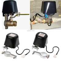 Elettrico Automatico Manipolatore Valvola di Intercettazione per Allarme Gas Conduttura di Acqua Dispositivo di Sicurezza Assortimento 12V 1/2 DN15 3/4 DN20