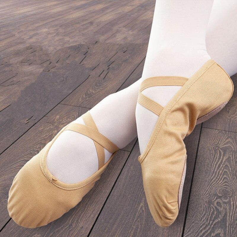 Dongjaker Slippers Gym Teacher Yoga Ballet Dance Shoes For Girls Women Ballet Shoes Canvas Kids Children