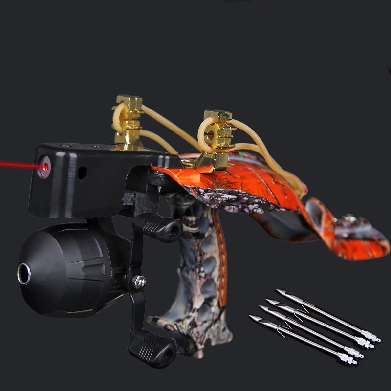 2018 High Quality Laser Slingshot Black Hunting Bow Catapult Fishing Bow Outdoor Powerful Slingshot for Shooting Crossbow Bow-in Bow & Arrow from Sports & Entertainment    1