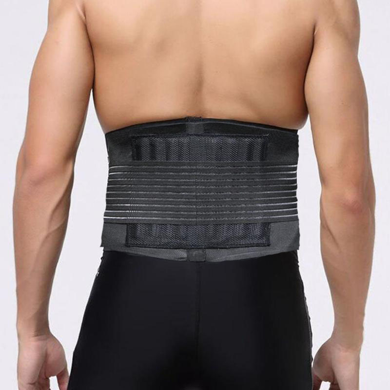 Deportivo ajustable accesorios apoyo cinturón de doble ajustar alivio de dolor de espalda terapia magnética de la cintura apoyo para gimnasio