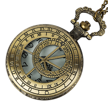 Vintage Bronze Quartz Pocket Watch Fashion Who Style Best Gift Necklace Pendant Steampunk new arrival hot uk tv doctor who theme series fashion quartz pocket watch chain necklace pendant watches dr who fans gift 2017
