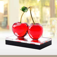 Modern Creative Home Decoration Crystal Cherry Ornaments Personalized Desk Decoration Red/green/yellow Accessories