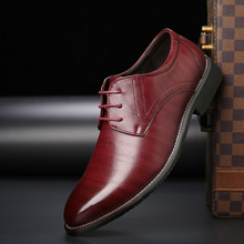 men shoes leather derbies footwear man  dress 38-48 yards new  large size business casual shoes цена