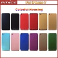 High Quality Colorful Housing Cover For iPhone 7 Cover Replacement Metal Back Chassis Frame with Buttons