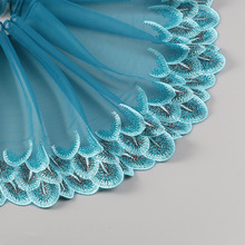 Explosive embroidery lace gold peacock feather tiara accessories car Barbie skirt 21CM DIY Clothes Accessories L214