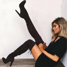 DoraTasia/Новая Брендовая женская обувь, женские сапоги, большие размеры 33-46, осенне-зимние ботфорты, пикантные вечерние женские сапоги на высоком каблуке