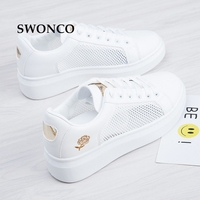 SWONCO Women S Vulcanize Shoes 2018 Spring Hollow Out White Shoe Sneakers Summer Shoes Women Sneakers