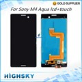 Replacement 10 pcs/lot LCD  Display With Touch Screen Digitizer Assembly For Sony Xperia M4 Aqua E2303 E2333 E2353 Free DHL/EMS