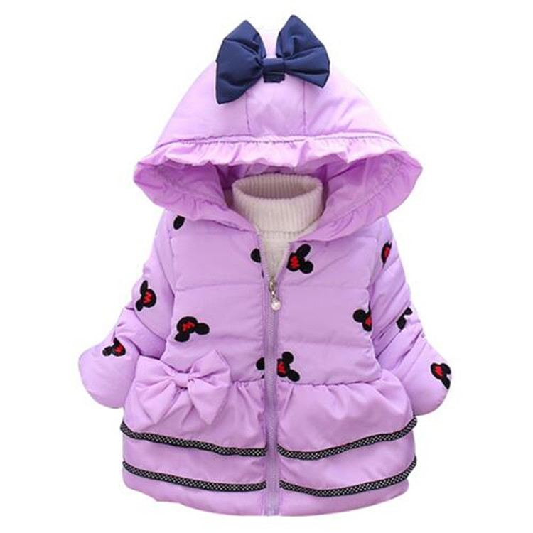 chcdmp New Minnie Baby Girls Jacket Kids Winter Cartoon Lovely Keeping Warm Coat Children Cotton Fashion Hooded Thick Outerwear new winter children hooded cotton parkas boys girls cartoon jacket coat baby plus thick velvet outerwear fashion kids clothes