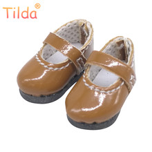 Tilda 2.5cm Doll Shoes for Blythe Doll Toy,Lovely Mini PU Leather Dolls Shoes for Azone,Licca Obitsu BJD Blyth Puppet Doll Toy(China)
