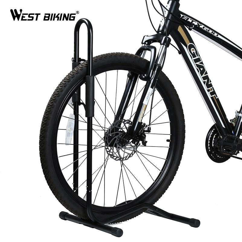 Supports d'emballage de vélo de vélo ouest alliage d'aluminium l-type vtt supports de vélo de route support de stockage vélo roue de vélo présentoir