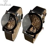 2015 Fashion Lovers Leather Quartz Watch Women Watches Men Luxury Brand Casual Wristwatch Waterproof Ladies Female